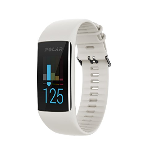 Polar A370 Fitness Tracker with 24/7 Wrist Based HR, White, Small