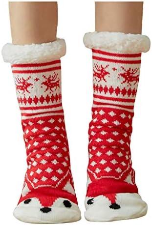 クリスマスの女性の綿のソックスはより厚いスリップ防止床のソックスのカーペットのソックスを印刷します