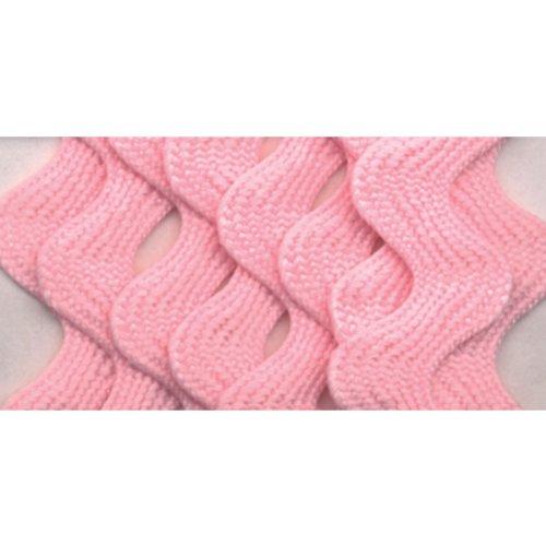 Wrights 117-401-061 Polyester Rick Rack Trim, Pink, Medium, 2.5-Yard