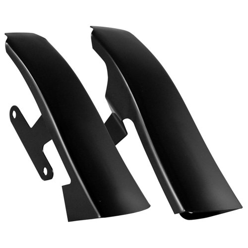 Hill Country Customs Black Fender-Saddlebag Filler Panels for 2009-2013 Harley-Davidson Touring - - Saddlebag Filler Panels