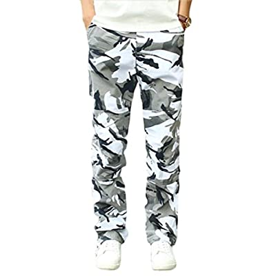 ainr Men's Military Camouflage Multi-pocket Relaxed Fit Cargo Pants hot sale