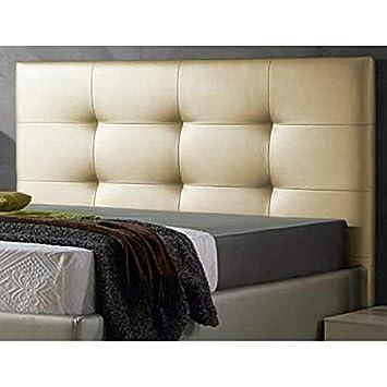 Decorquality Cabecero Texas tapizado Polipiel Primera Calidad con un diseño Moderno y un Toque de Elegancia (Dorado, 180 * 70): Amazon.es: Hogar
