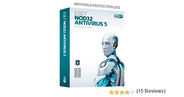 ESET NOD32 Antivirus V5 1 User 1 Year (PC): Amazon.es: Software