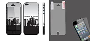 Combo pack Cellet Los Angeles California Skin for iPhone 5 And MYBAT LCD Screen Protector for APPLE iPhone 5