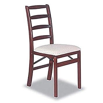 AmazoncomShaker Ladderback Wood Folding Chair in Cherry Finish