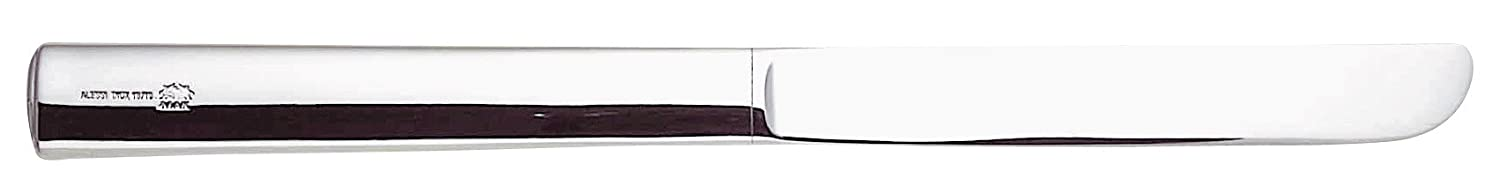 Alessi 18/10 Stainless Steel Mirror Polished Rundes Modell Dessert Knives, Set of 6, Silver JH01/6