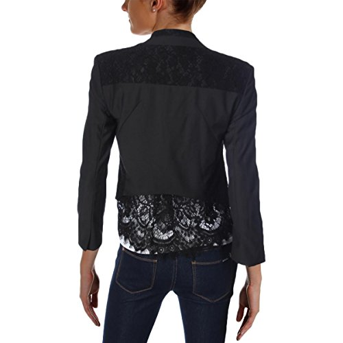 Generation Love Womens Linn Lace Inset Long Sleeves Open-Front Blazer Black M by Generation Love (Image #1)