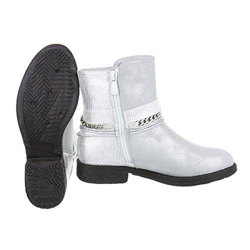 Ital-Design - botas estilo motero Mujer Silber A-58
