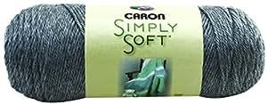 Caron Simply Soft Heather Yarn, 5 Ounce, Heather Grey, Single Ball
