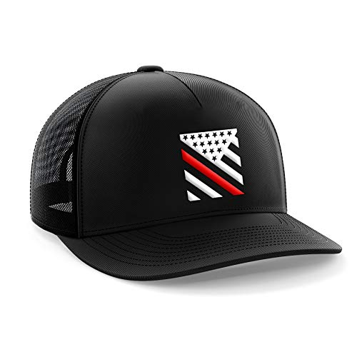 Tactical Pro Supply Thin Red Line Crest American Flag Snapback Hat