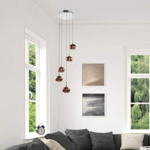 Decor Therapy CH1940 Phipps 5 Light Pendant, Rose Gold