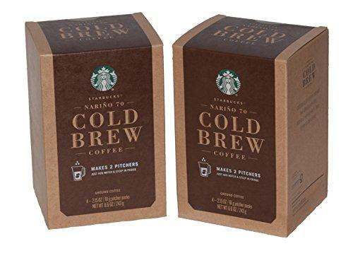 Starbucks Narino 70 Cold Brew Coffee Pitcher Packs - 4 Packs -Makes (12) 8 fl oz Servings per Box (2 Boxes)