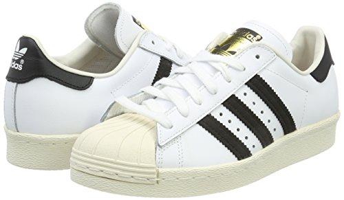Collo Superstar Adidas Sneaker Alto 2 black gum 80s 2 black 1 A chalk Bianco White Uomo Outsole white IAxYrAqwB