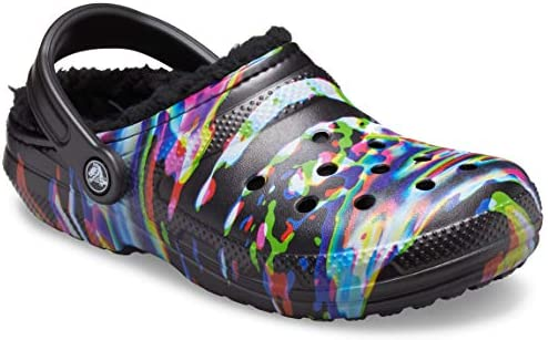 Crocs Unisex-Adult Classic Tie Dye Lined Clog | Warm and Fuzzy Slippers