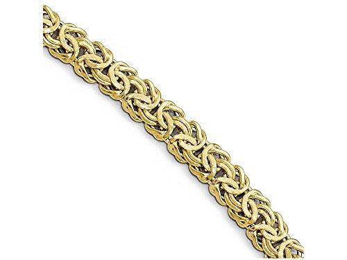 Finejewelers 14k Yellow Gold Polished Fancy Link with Black Onyx Toggle Bracelet (Gold Polished Fancy Link)