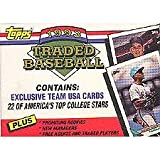 1993 Topps Traded Baseball Series Factory Sealed Complete 132 Card Set. Tough Set to Find! Featuring Todd Helton's Rookie Card Plus Mike Piazza, Greg Maddux, Barry Bonds, Team USA Olympians and More!