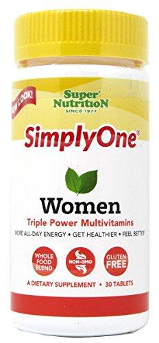 Super Nutrition SimplyOne Women Triple Power Multivitamin 30 Tablets (Super Nutrition For Women)