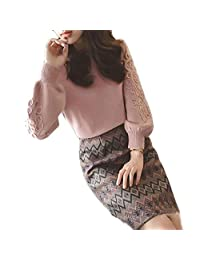 WJKHZED Autumn and Winter Woolen Suit Female Piece Sweater