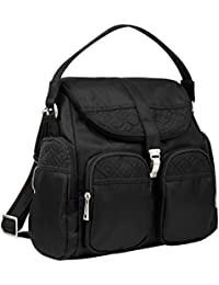 Anti-Theft Signature Convertible Backpack, Black, One Size