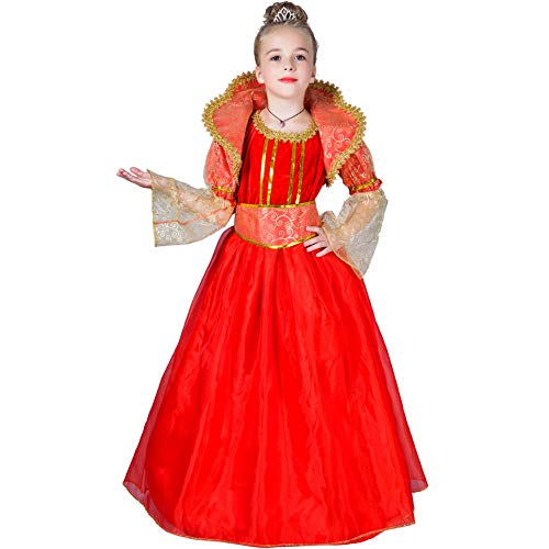 Girls Noble Red Princess Fancy Dress Halloween Costume (4-6)]()