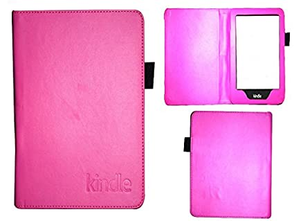 Colorcase Tablet Flip Cover Case for Kindle Paperwhite Previous Generation   Pink Tablet Accessories