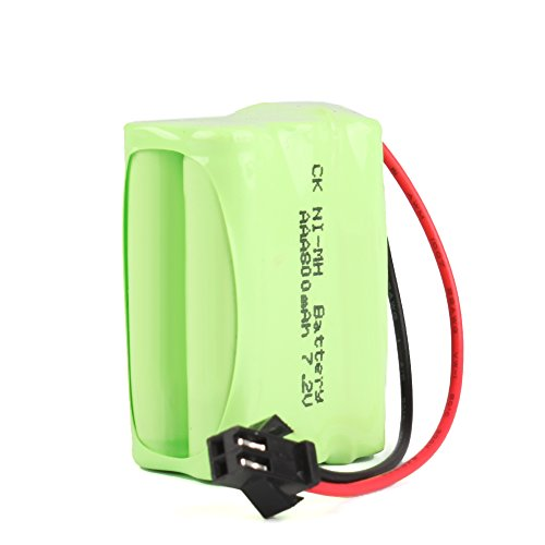 Eachbid 7.2V Ni-MH 800mAh AAA 6pc (32) Rechargeable Battery With SM 2p Connector For RC Boat Car Truck Tank