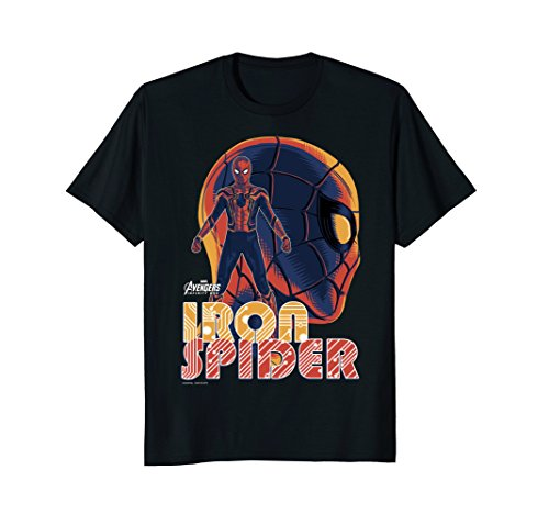 Marvel Infinity War Iron Spider Head Profile Graphic T Shirt
