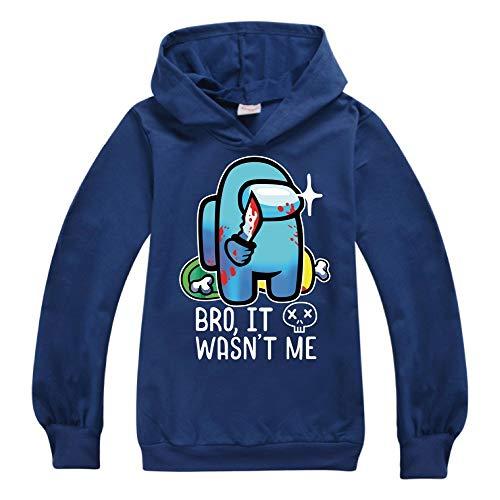 Jongens Sweater Kids Hoodies Dunne Tops Game onder ons Print voor tieners