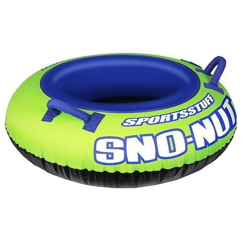 Sportsstuff Sno-Nut Sleds and Snow Tube Constructed of heavy-gauge inflatable PVC Partially covered with durable nylon cover includes 1 tube by Kwik Tek/SportsStuff - Orange Cycle Parts