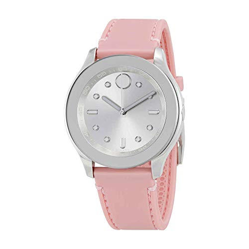 Movado Women's Swiss Quartz Stainless Steel and Rubber Casual Watch, Color Pink (Model: 3600414) ()