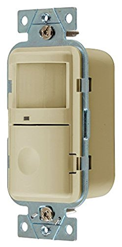 - Hubbell Wiring Systems WS1000I Lighting Controls, VAC Ancy/Occupancy Sensors, Wall Switch, Passive Infrared Technology, Single Circuit, 120VAC, 500W, Ivory