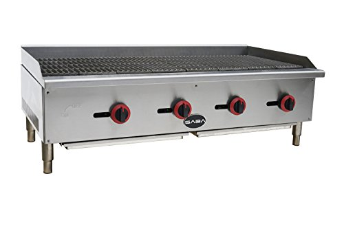 BLACK FRIDAY SPECIAL!! SABA Heavy Duty Stainless Steel 48'' Gas Radiant Broiler / Commercial Charbroiler by SABA Restaurant Utopia