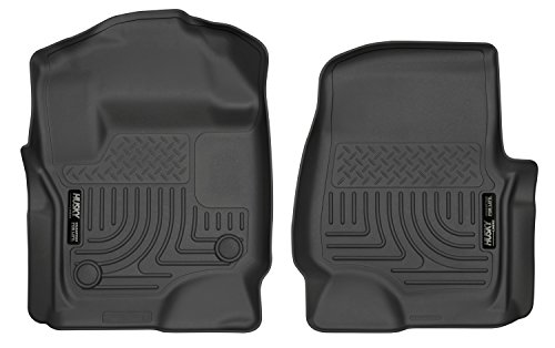 - Husky Liners 13301 Floor Liners - Front Fits 2017-19 F-250/F-350 Crew/SuperCab w/factory carpet