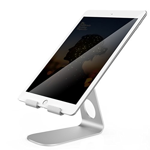 Adjustable Tablet Stand, Pasonomi iPad Stand, Aluminum Desktop Stand Holder for iPad Pro / iPad Air / iPad mini, Samsung Tab, Kindle, iPhone and more - Silver (Ipad Air 2 Stands compare prices)