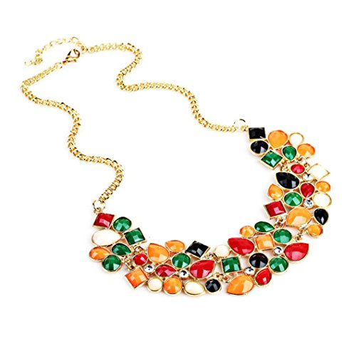 TONSEE Women Fresh Wild Fashion Delicate Clavicle Necklace (Multicolor)