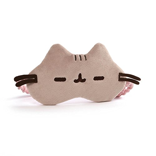 GUND Pusheen Cat Plush Stuffed Animal Sleep Mask, Gray, 8