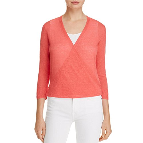 NIC+ZOE Women's Four-Way Cardy-Lighter Weight Coral Crush Sweater
