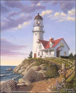 Light House 3D Decoupage Paper Tole Craft Kit 8x10