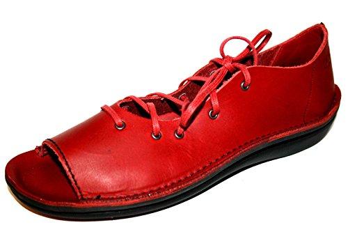 Loints of Holland - Sandalias de Vestir de cuero Mujer Rojo - Rouge - Rot (red 0494)