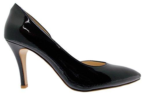 decolt ouvrir bleu peinture art D082 femme fond en cuir de chaussures face
