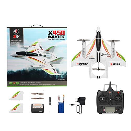 FancyswES8eety XK X450 Avión acrobático 3D RC 6 Canales Control ...