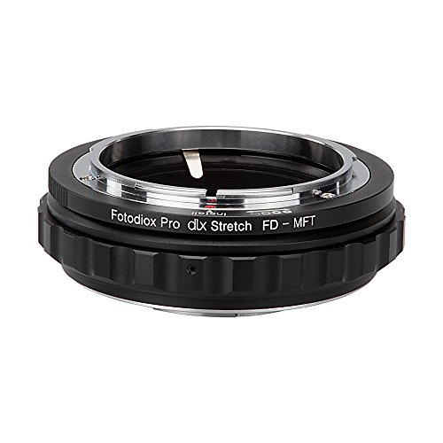 Fotodiox DLX Stretch Lens Mount Adapter - Canon FD & FL 35mm SLR lens to Micro Four Thirds (MFT, M4/3) Mount Mirrorless Camera Body with Macro Focusing Helicoid and Magnetic Drop-In Filters by Fotodiox