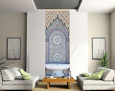 Deco wallpaper unique fountain eastern ref 2079 3 size 63x180cm