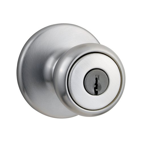Kwikset Tylo Entry Knob in Satin Chrome