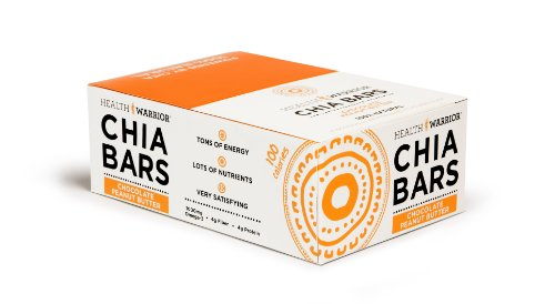 (HEALTH WARRIOR Chia Bars, Chocolate Peanut Butter, Gluten Free, Vegan, 25g bars, 15 Count)