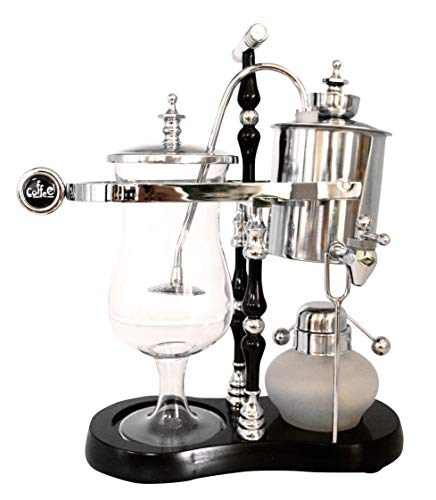 Diguo Belgian/Belgium Luxury Royal Family Balance Siphon/Syphon Coffee Maker. Elegant Double Ridged Fulcrum with Tee handle