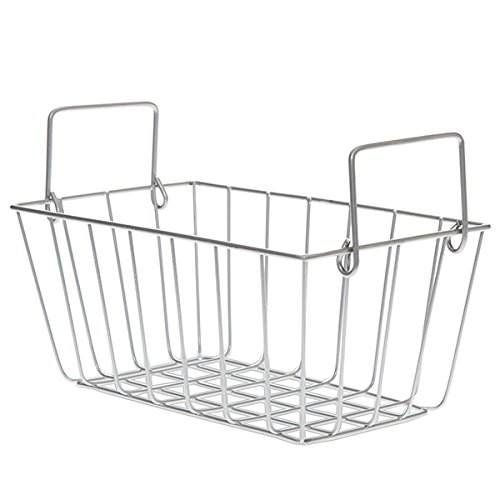 The Lucky Clover Trading Silver Rectangular Wire Basket with Swing Handle - Small -