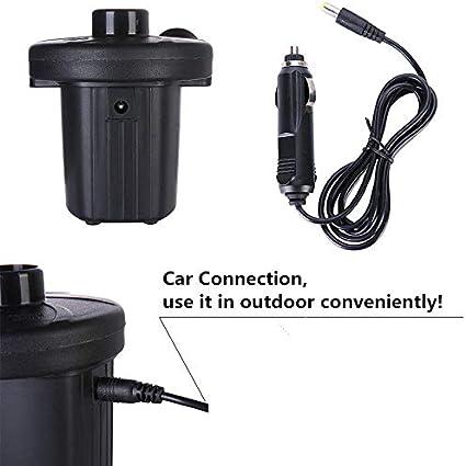 100-240 V zoeson Auto verbindung und Haushalt Elektrische Luftpumpe Tragbare Luftmatratze Pumpe Quick-Fill AC Inflator Deflator f/ür Inflatables Raft Bett Boot Pool Spielzeug mit D/üsen AC luftpumpe