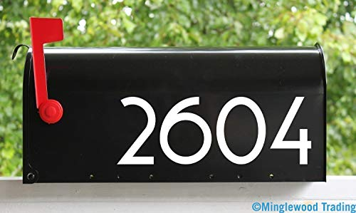 White - Modern Contemporary Mailbox Numbers - 2.5