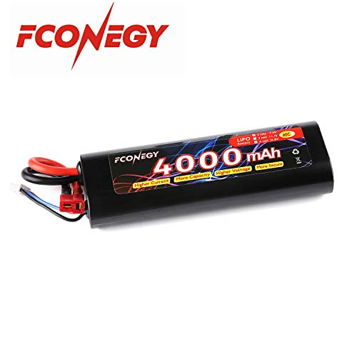 FCONEGY 2S 7.4V 4000mAh 40C Lipo Battery Pack with Deans Plug for RC Car RC Truck RC Boat, RC Hobby - Hobby People Rc Cars
